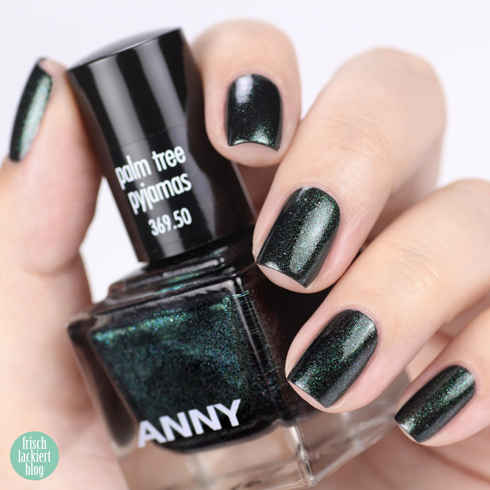 ANNY beverly hills hideaway Kollektion – Nagellack Sommer 2018 – palm tree pyjamas – swatch by frischlackiert