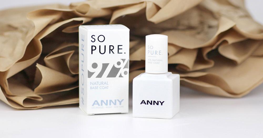ANNY SO PURE. Basecoat mit 97% natürlichen Inhalten – Test und Erfahrung – Inhaltsstoffe – by frischlackiert