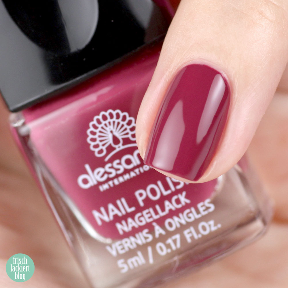 Alessandro Nagellack – Herbst Kollektion 2018 – Summer Berries – Cherry at heart – Warmes Pink – swatch by frischlackiert