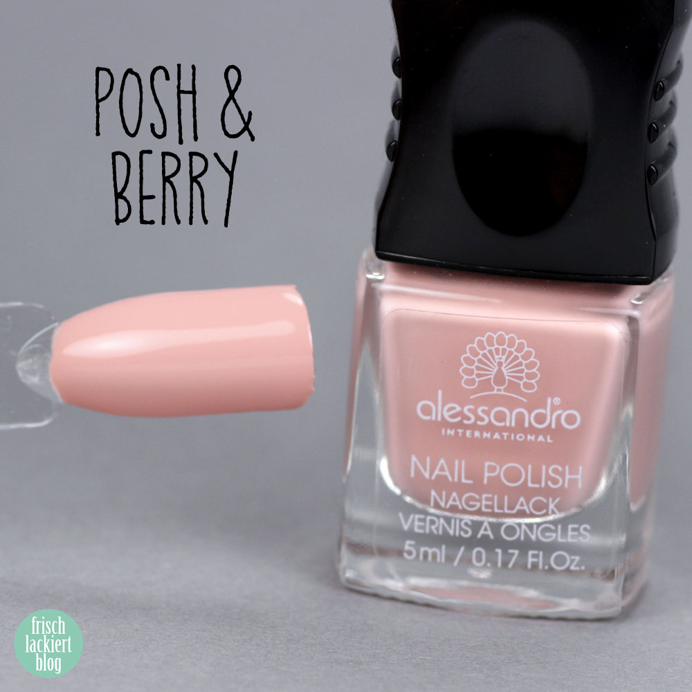 Alessandro Nagellack – Herbst Kollektion 2018 – Summer Berries – Posch & Berry – warmes Nude pfirsich – swatch by frischlackiert