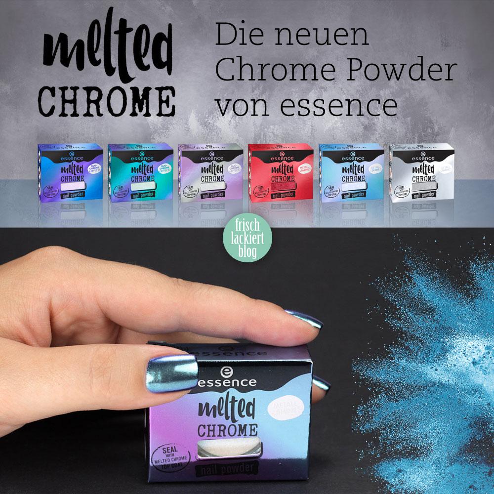 melted chrome powder von essence – chrome Trend für die Nägel mit Nagellack – by frischlackiert
