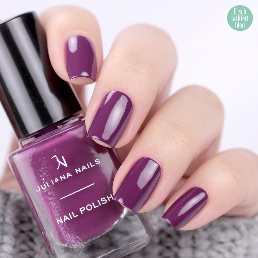 Juliana Nails mystic plum – Nagellack in Violett für den Herbst – swatch by frischlackiert