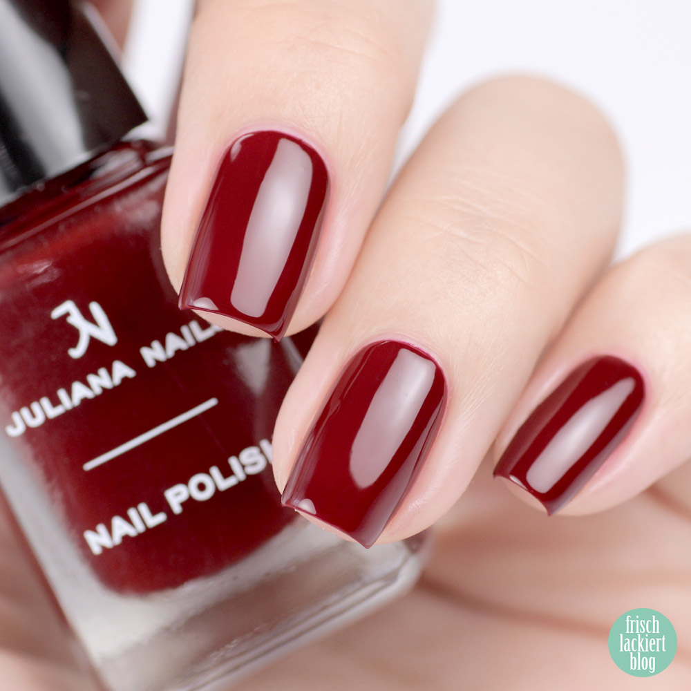 Juliana Nails deep in my heart – Nagellack in Dunkelrot für den Herbst – swatch by frischlackiert