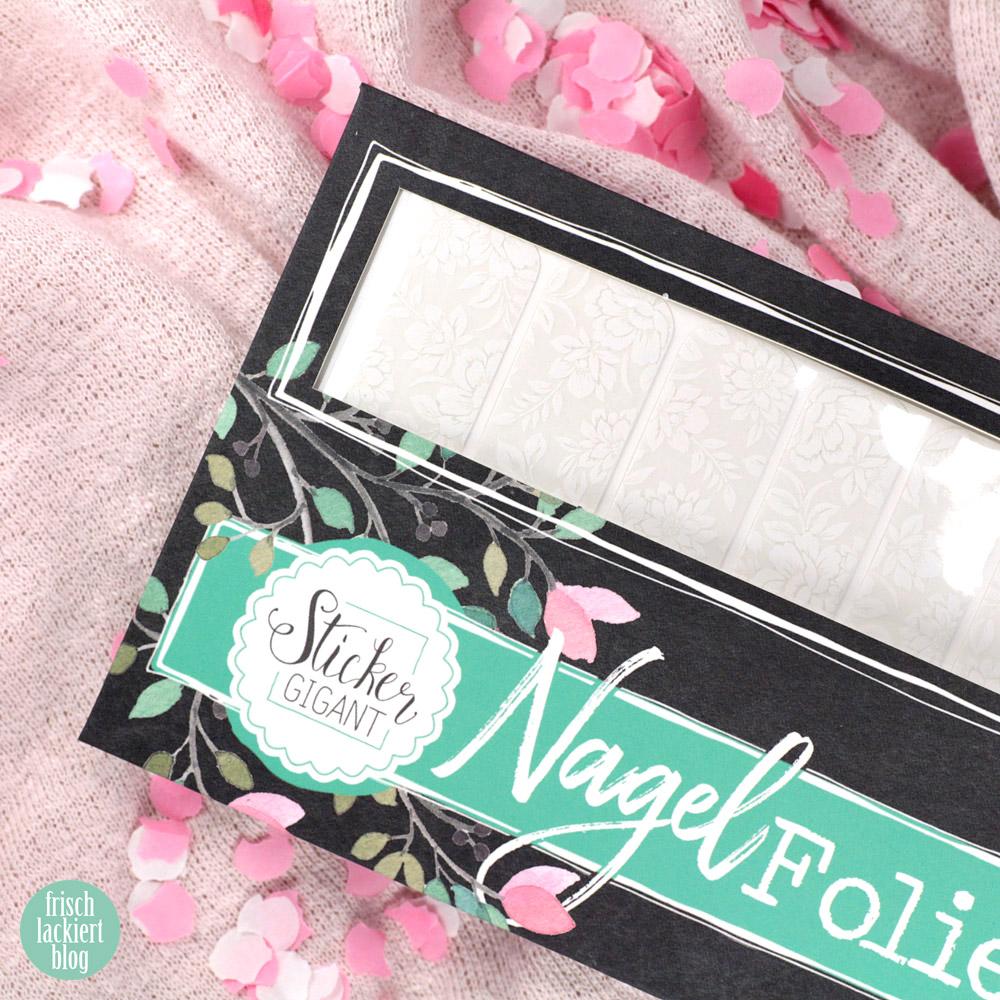 Sticker Gigant Nagelsticker – Blumenhochzeit – weiße Blumen Nailart – by frischlackiert