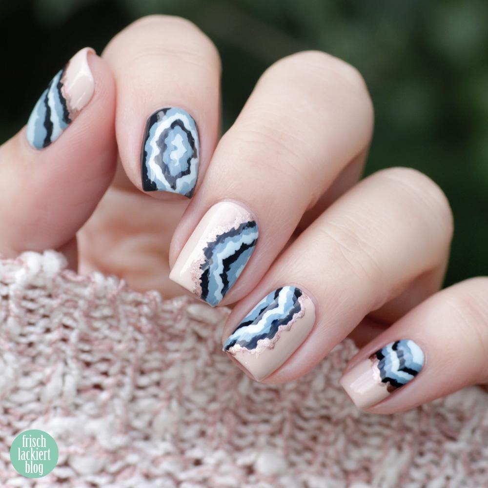 Edelsteine Nailart – Gemstone Nails – copycat Design mit Laura Lackschaft – by frischlackiert