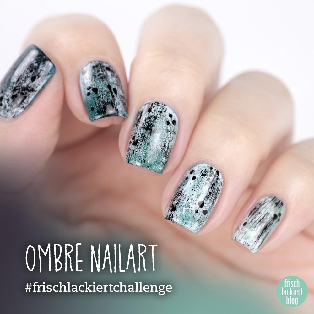 Frischlackiert-Challenge – Ombre Nailart in Mint und Türkis – by frischlackiert