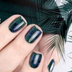 Look to Go – Nailart mit Pine Green und Azure – Tropical Winter Nailart – by frischlackiert