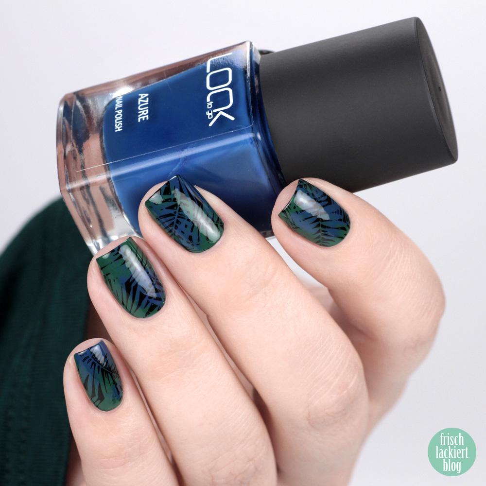 Look to Go – Nailart mit Pine Green und Azure – Tropical Winter Nailart – by frischlackiert