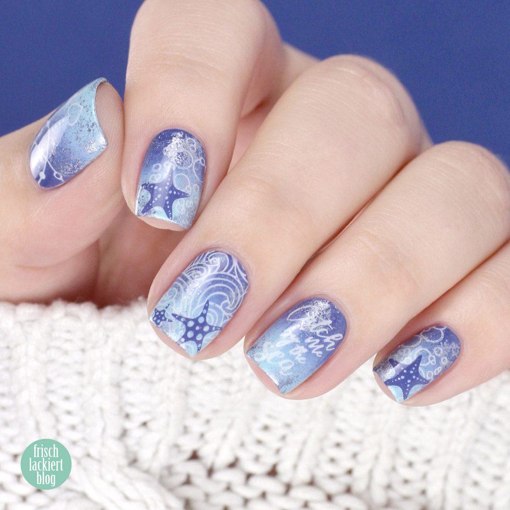 MoYou Stamping Nailart – Mermaid / Meerjungfrau – by frischlackiert