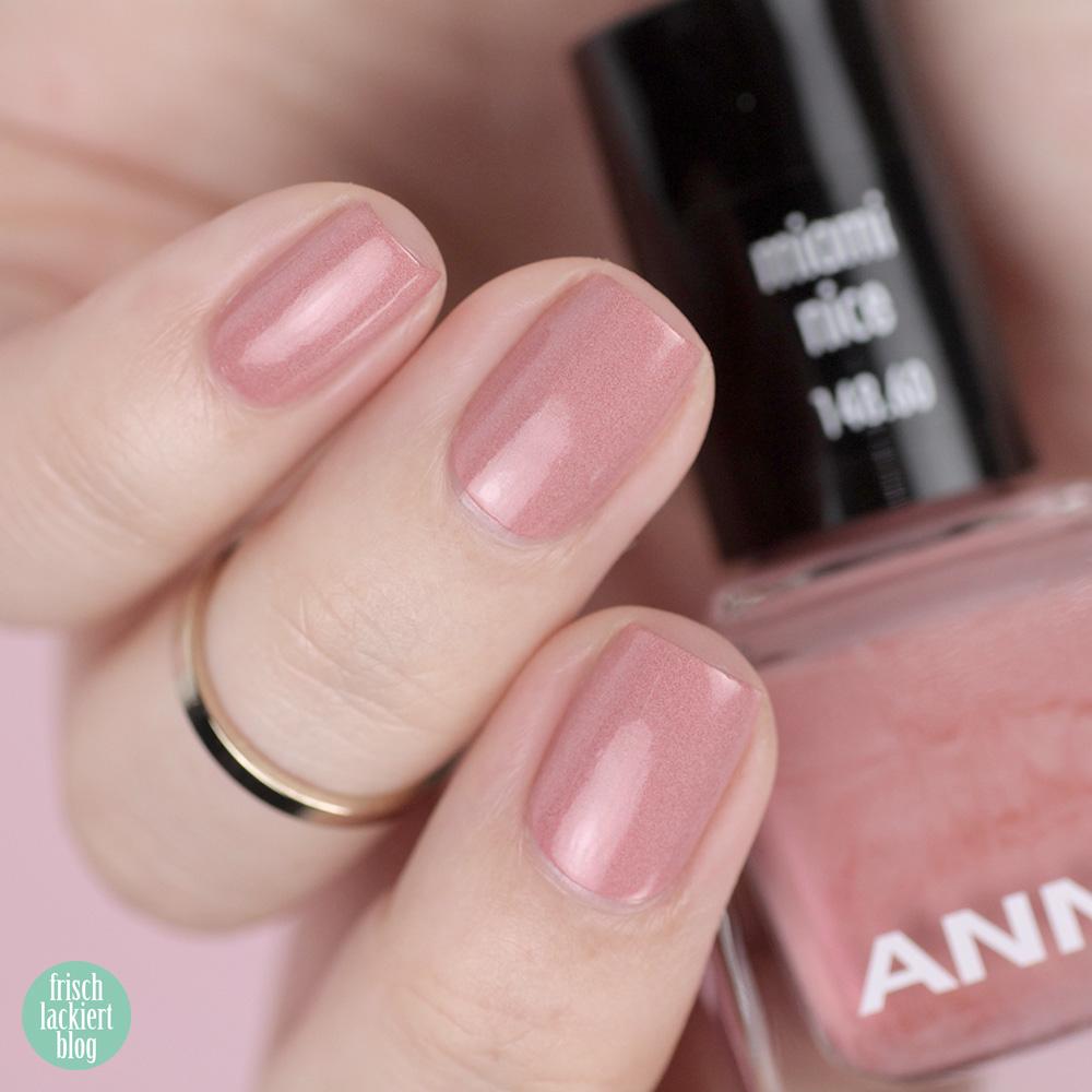 Ice Ice Baby Sommerkollektion ANNY – miami nice – Trend Nagellackfarben für den Sommer 2019 – swatch by frischlackiert