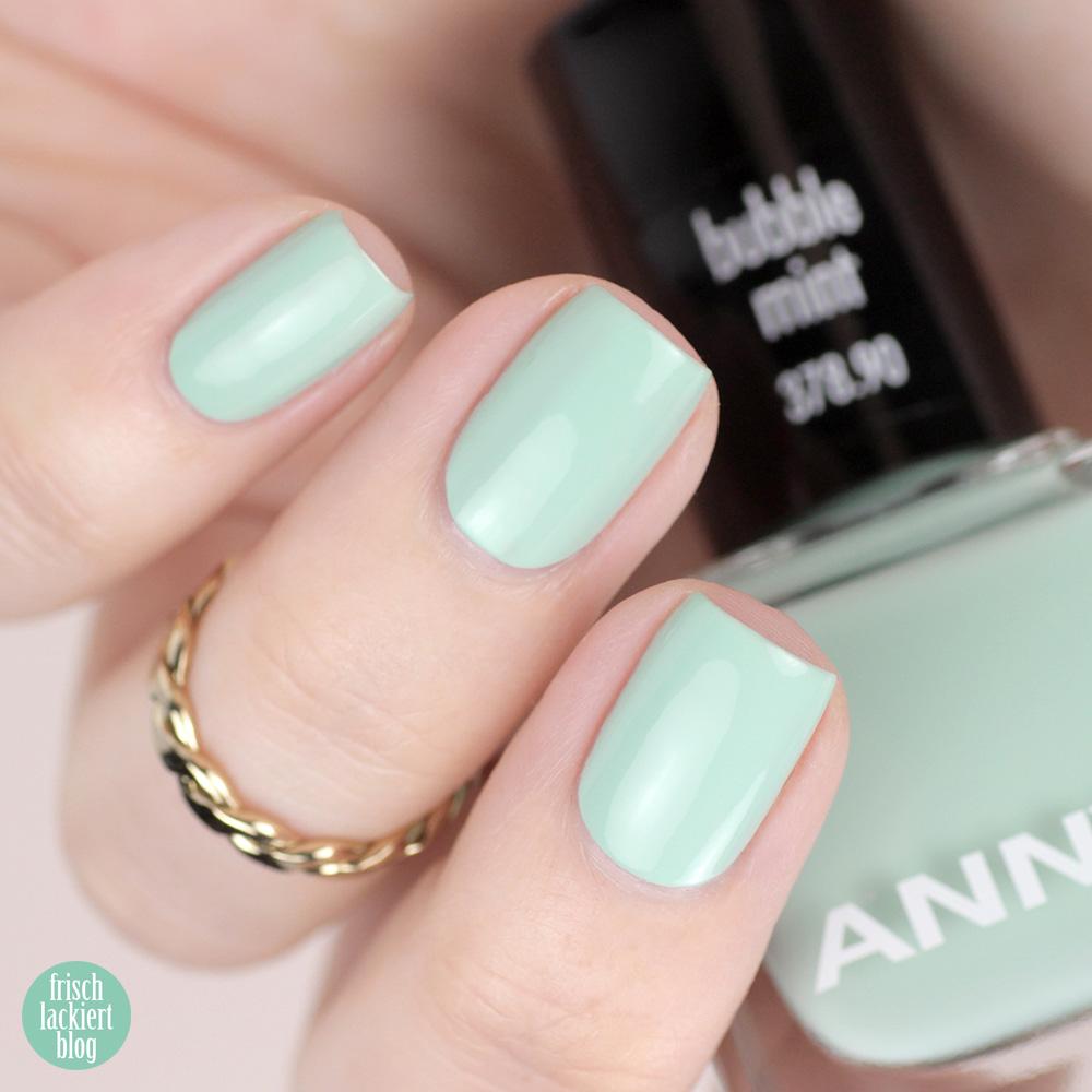 Ice Ice Baby Sommerkollektion ANNY – bubble mint – Trend Nagellackfarben für den Sommer 2019 – swatch by frischlackiert