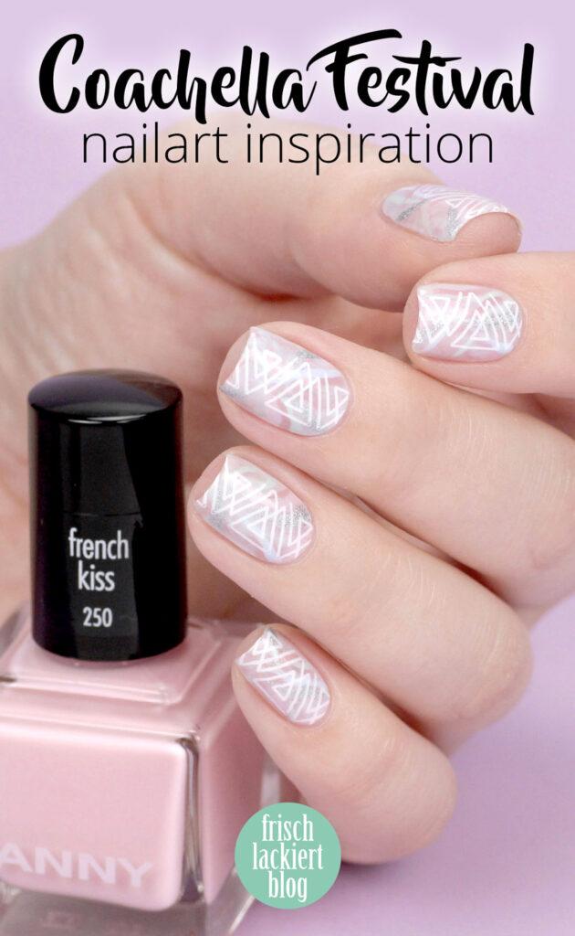 Coachella Festival Nailart Inspiration – Geometrie Pastell Nageldesign mit ANNY – by frischlackiert