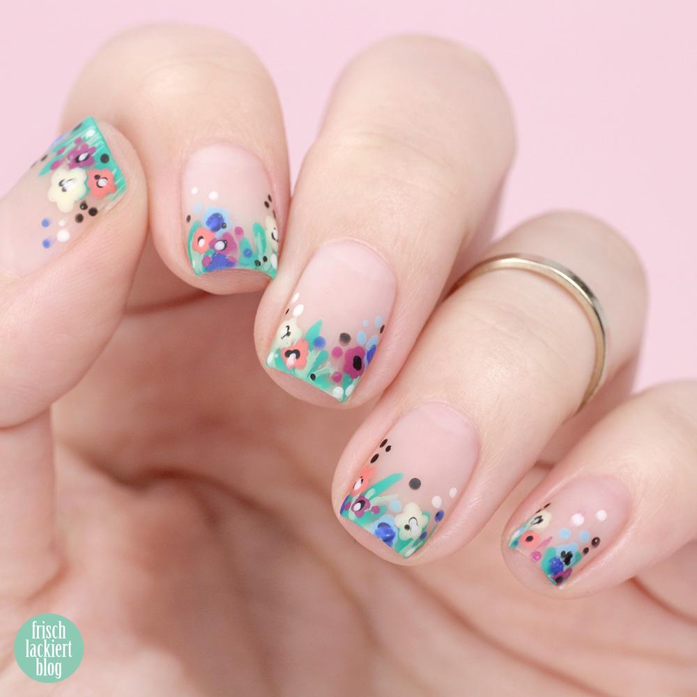 Frischlackiert-Challenge – Blumen Nailart für den Sommer – by frischlackiert