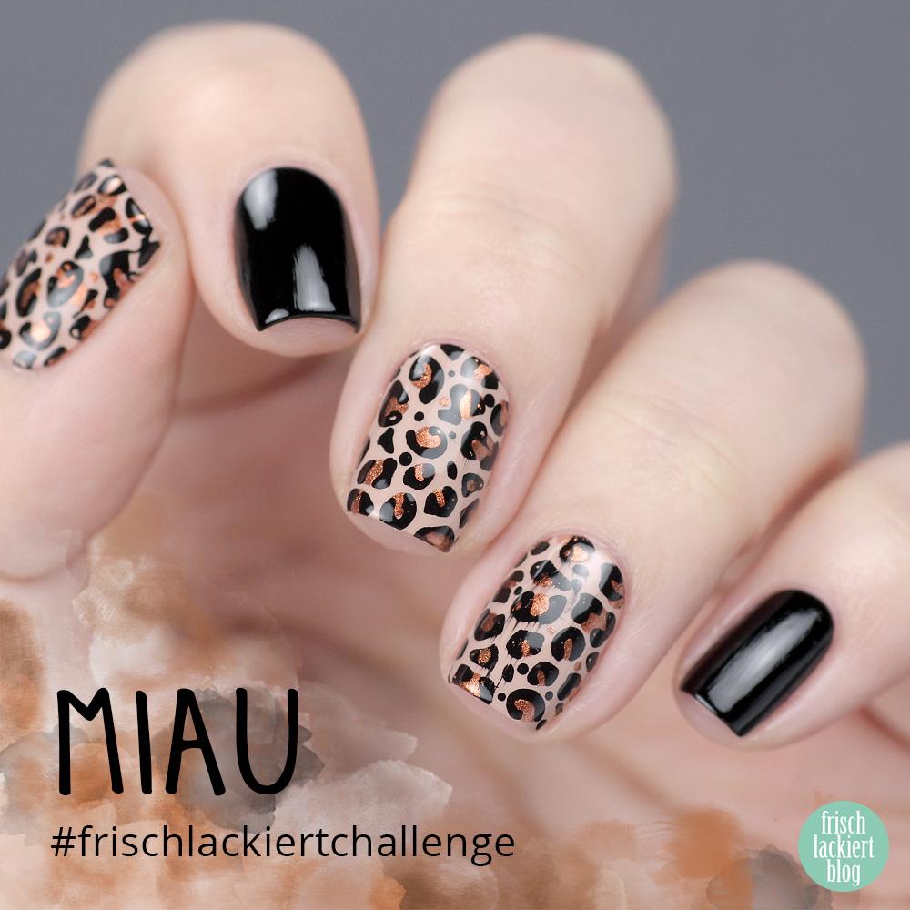 Frischlackiert-Challenge – Miau – Leopard Nailart – by frischlackiert
