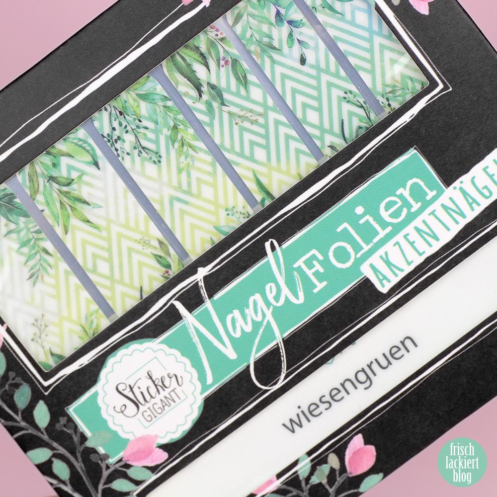 Sticker Gigant Nagelsticker Wiesengrün / Design by Lackschaft.de / Nailart mit Blättern für den Frühling und Sommer – swatch by frischlackiert