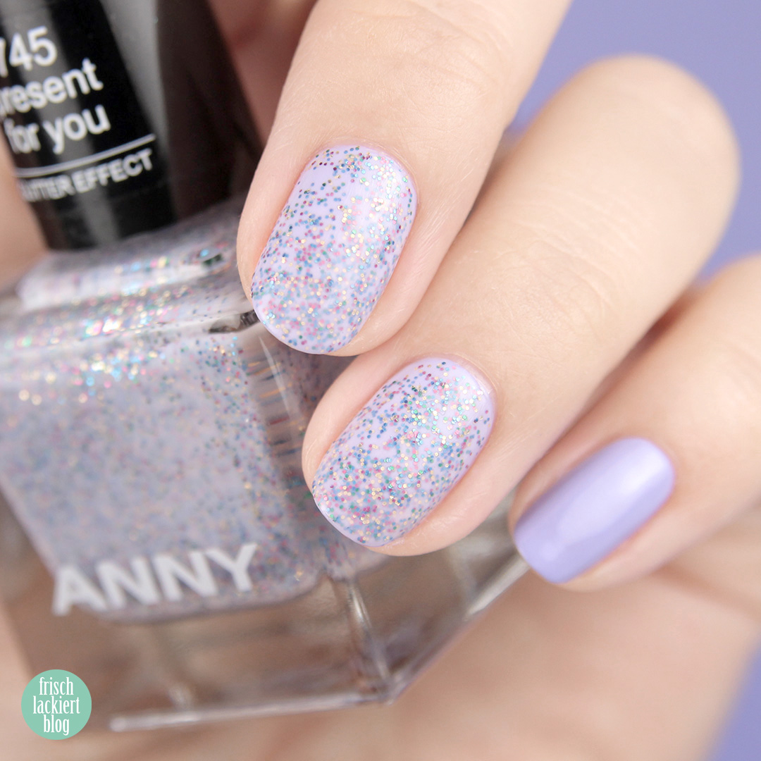 ANNY present for you und ANNY lilac bash swatch – by frischlackiert