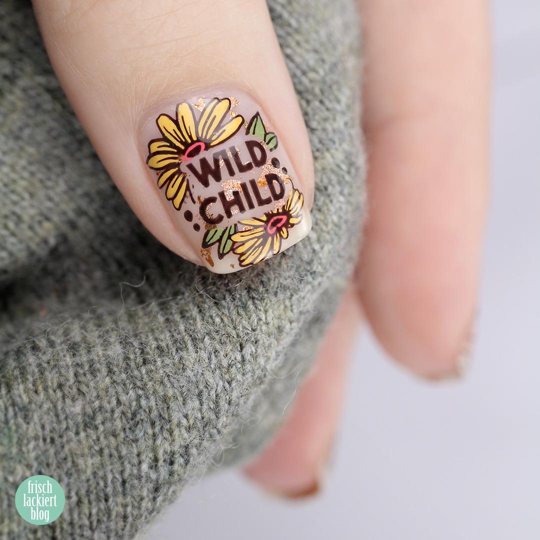 Hippie Cut Out Negative Space Nailart – wild child – by frischlackiert