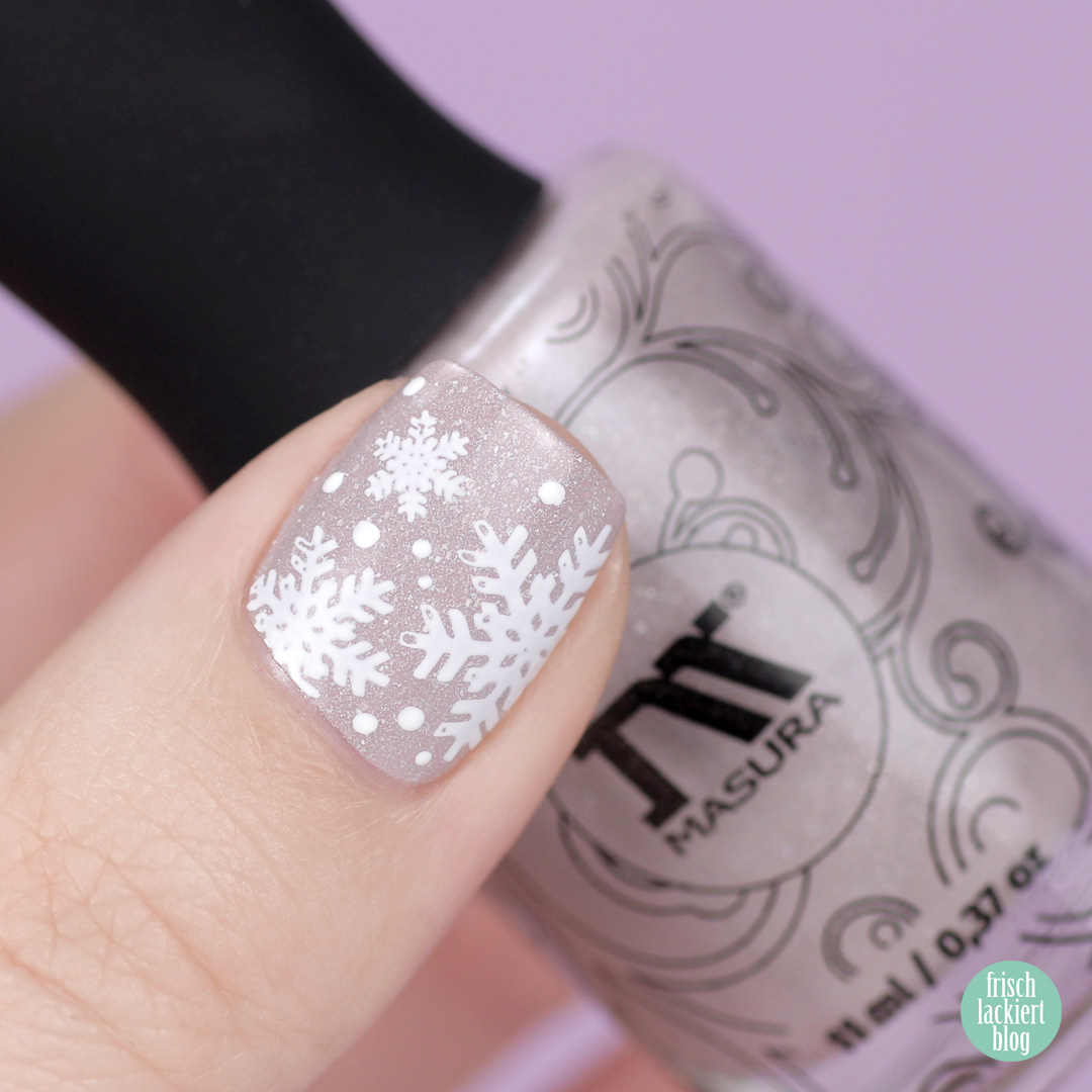 Masura lavender wedding – winter snowflake nailart – by frischlackiert