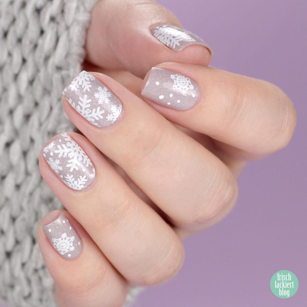 Masura lavender wedding – winter snowflake nailart – by frischlackiert