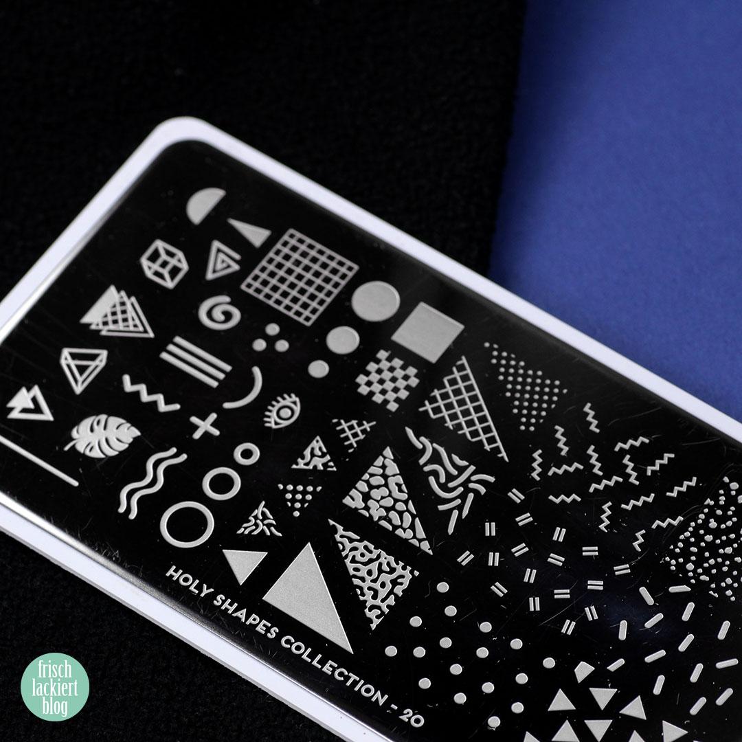 Frischlackiert Challenge – Nude und Neon Nailart mit schwarzem Stamping – by frischlackiert