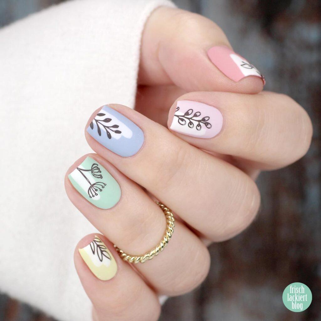 Spring Pastel Rainbow Stamping Nailart – by frischlackiert