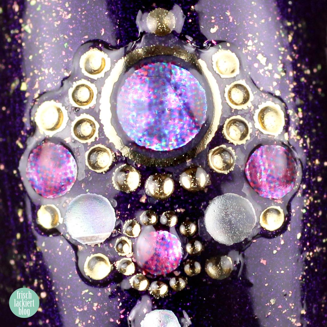 FrischlackiertChallenge – Arabian Nights Nailart – Jolifin Strass-Sticker Nr. 27 - by frischlackiert