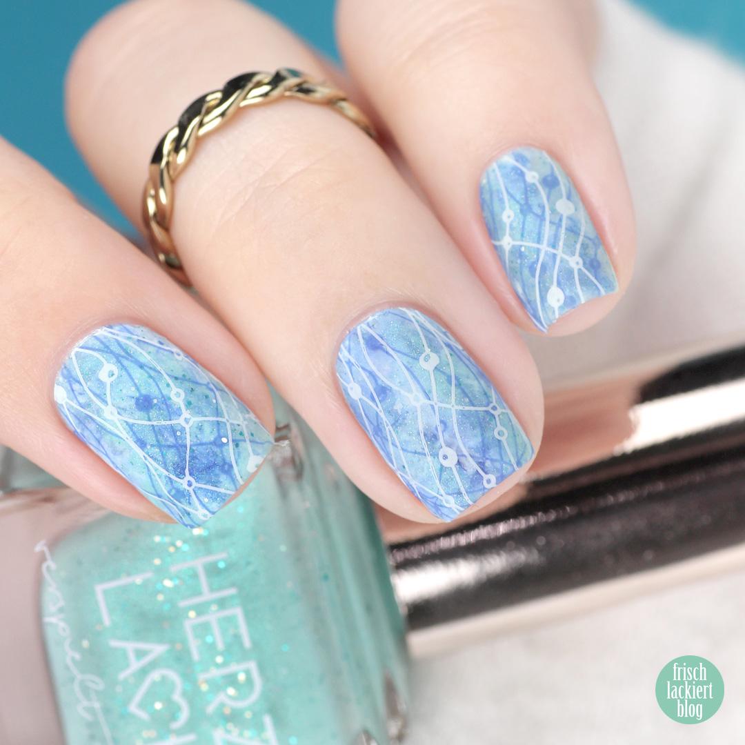 Frischlackiert-Challenge – Stamper Marble Nailart – by frischlackiert