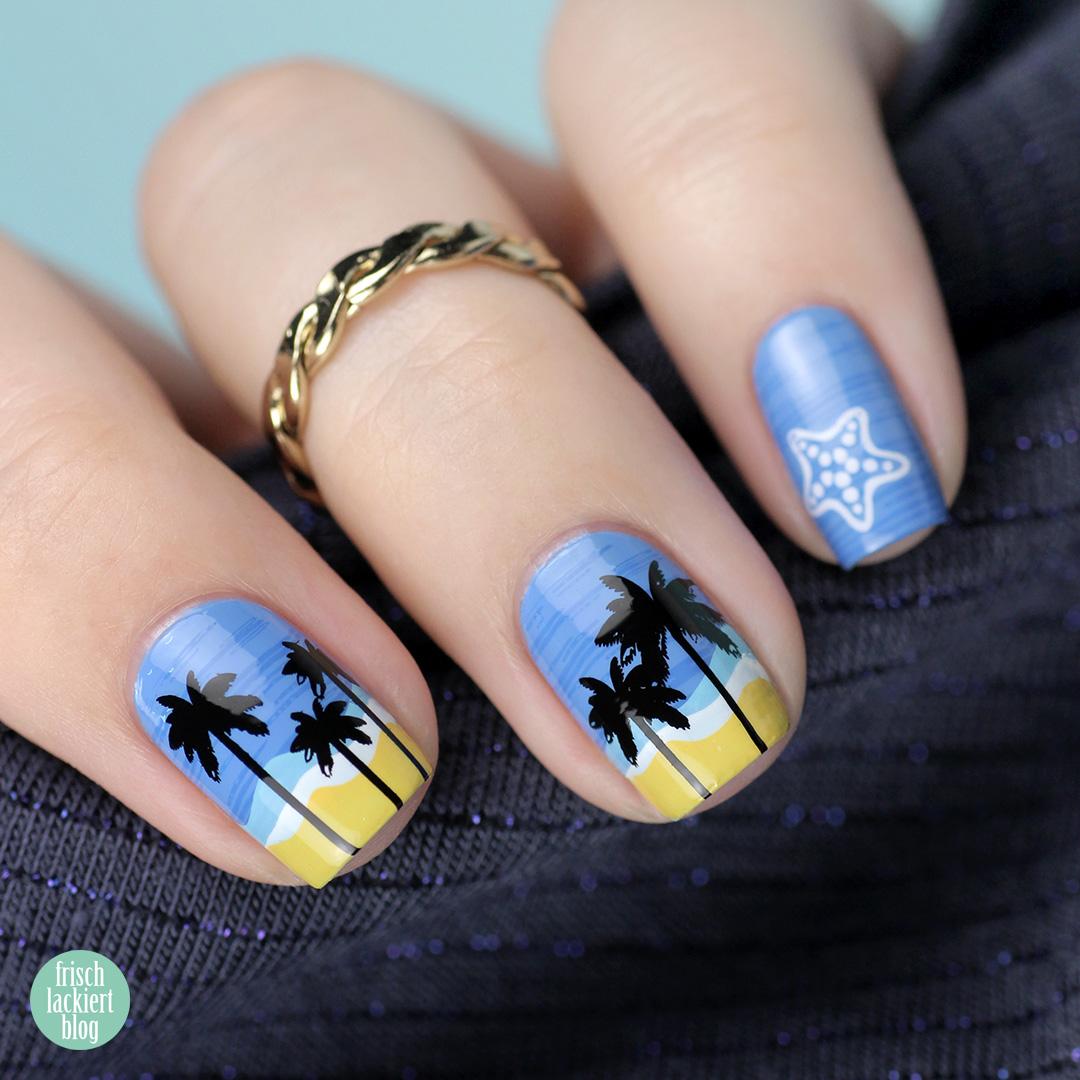 Frischlackiert-Challenge Summer Lovin Stamping Nailart