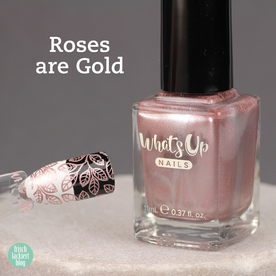 Whatsup Nails Stamping Polish - Roses are Gold - Review - by frischlackiert