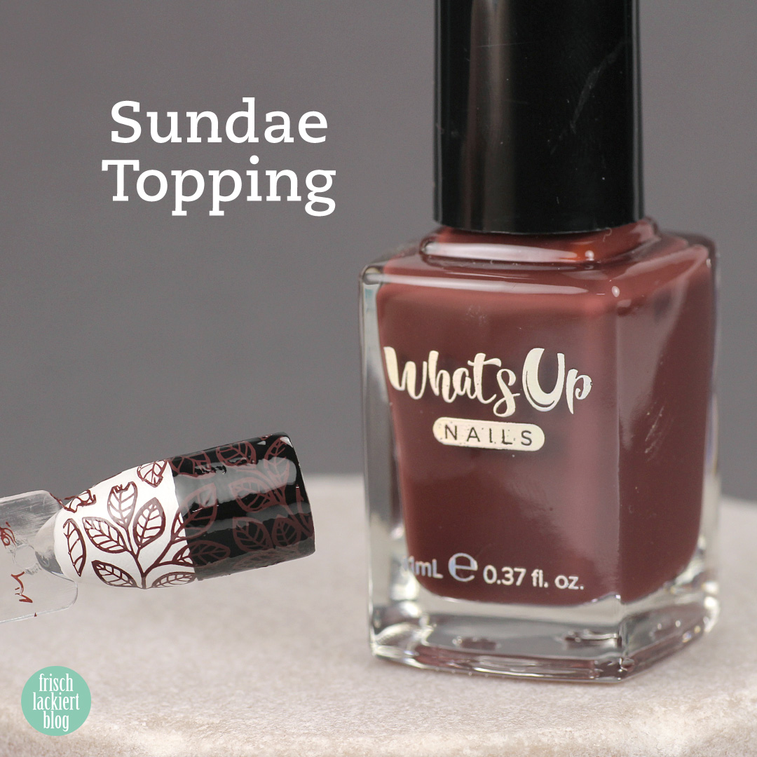 Whatsup Nails Stamping Polish - Sundae Topping - Review - by frischlackiert