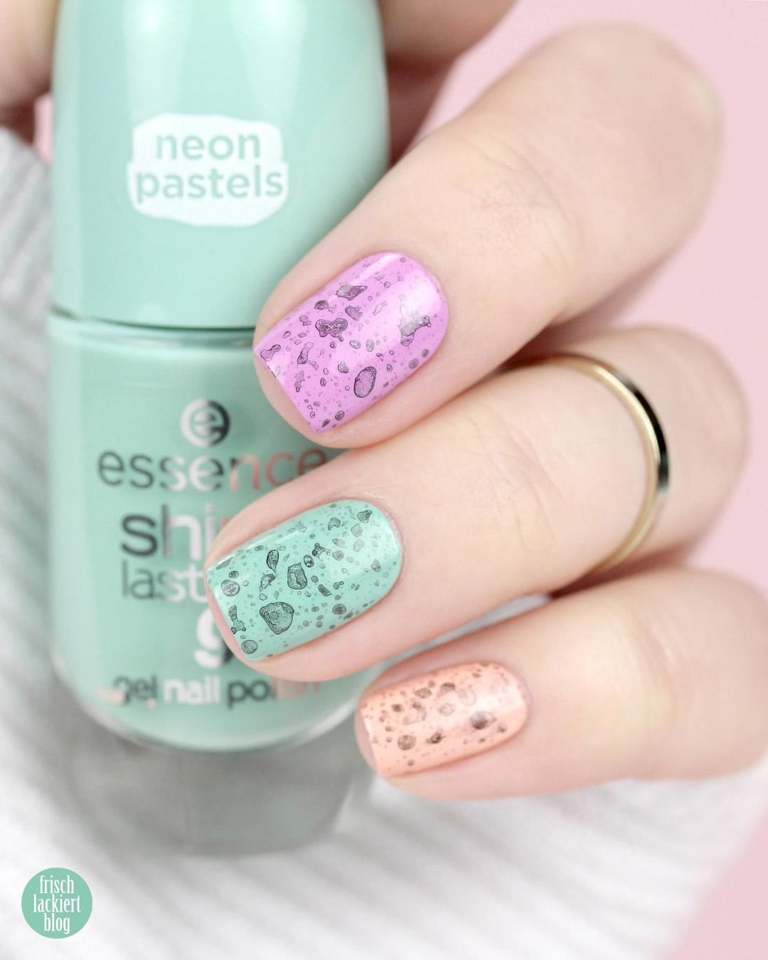 Oster Nail Art mit essence neon pastels – by frischlackiert
