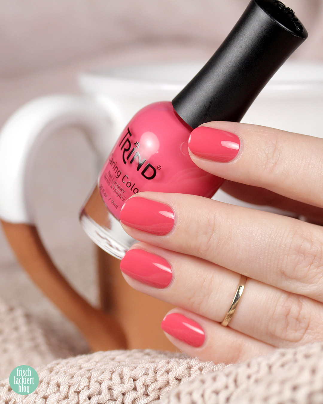 Trind Nagellack – Back to Basics Kollektion – The Time is Now – Pink – swatch by frischlackiert