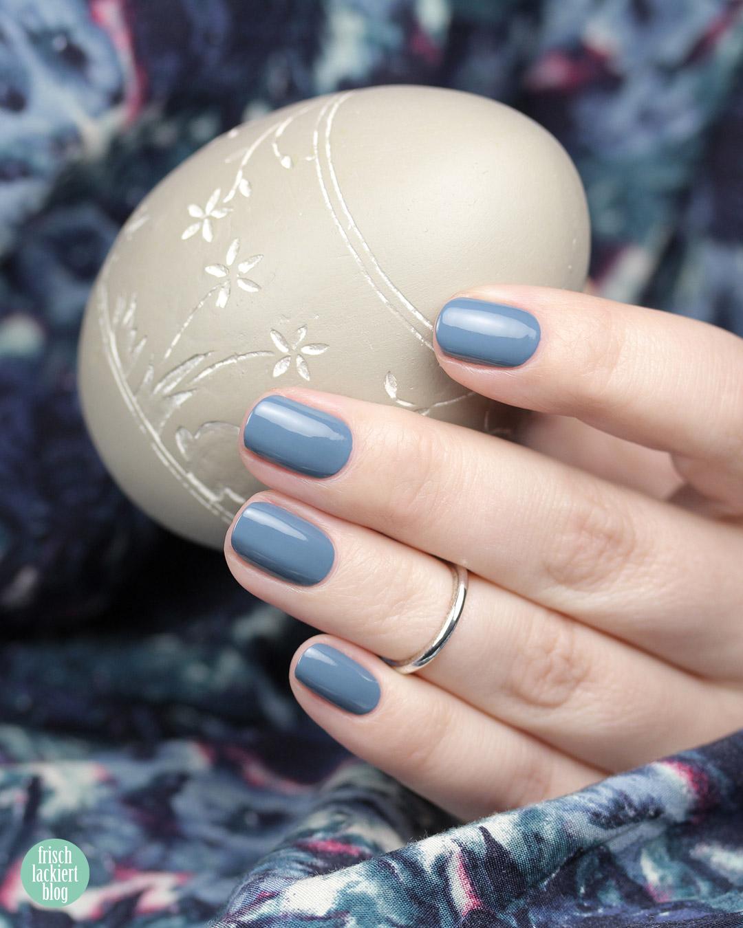 Trind Nagellack – Back to Basics Kollektion – Trust the Magic – Blau Grau – swatch by frischlackiert